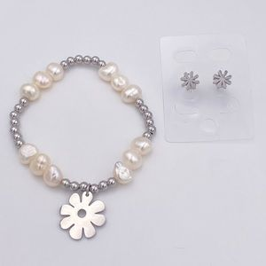 High quality stainless steel genuine pearls set